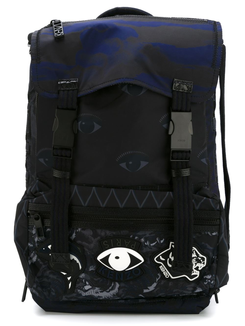 Kenzo sac à main homme en cuir noir tE09S1Uxu