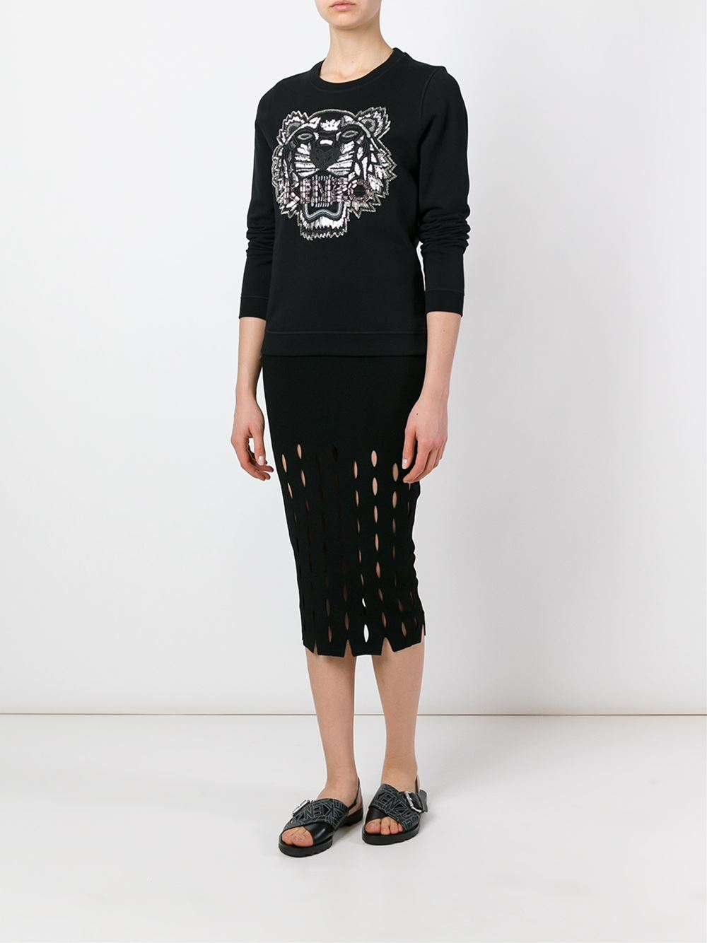 Amour Tiger kenzo Brodées Kenzo Sweat Femme Clothing À Perles B8O8axwvq