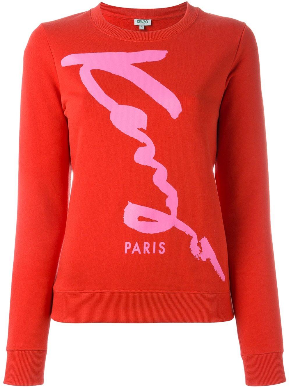 Sweat Logo Femme De À Paris Kenzo kenzo Linge Soldes Clothing w76qEIxd