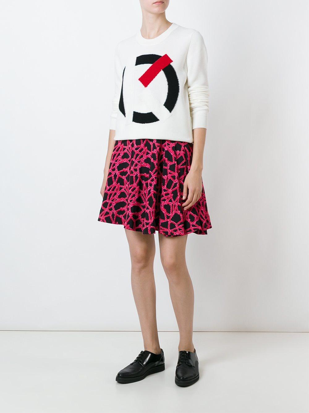 D'ecran Femme Tigre Kenzo kenzo Pull K Intarsia Fond Clothing À l EH2I9DYW