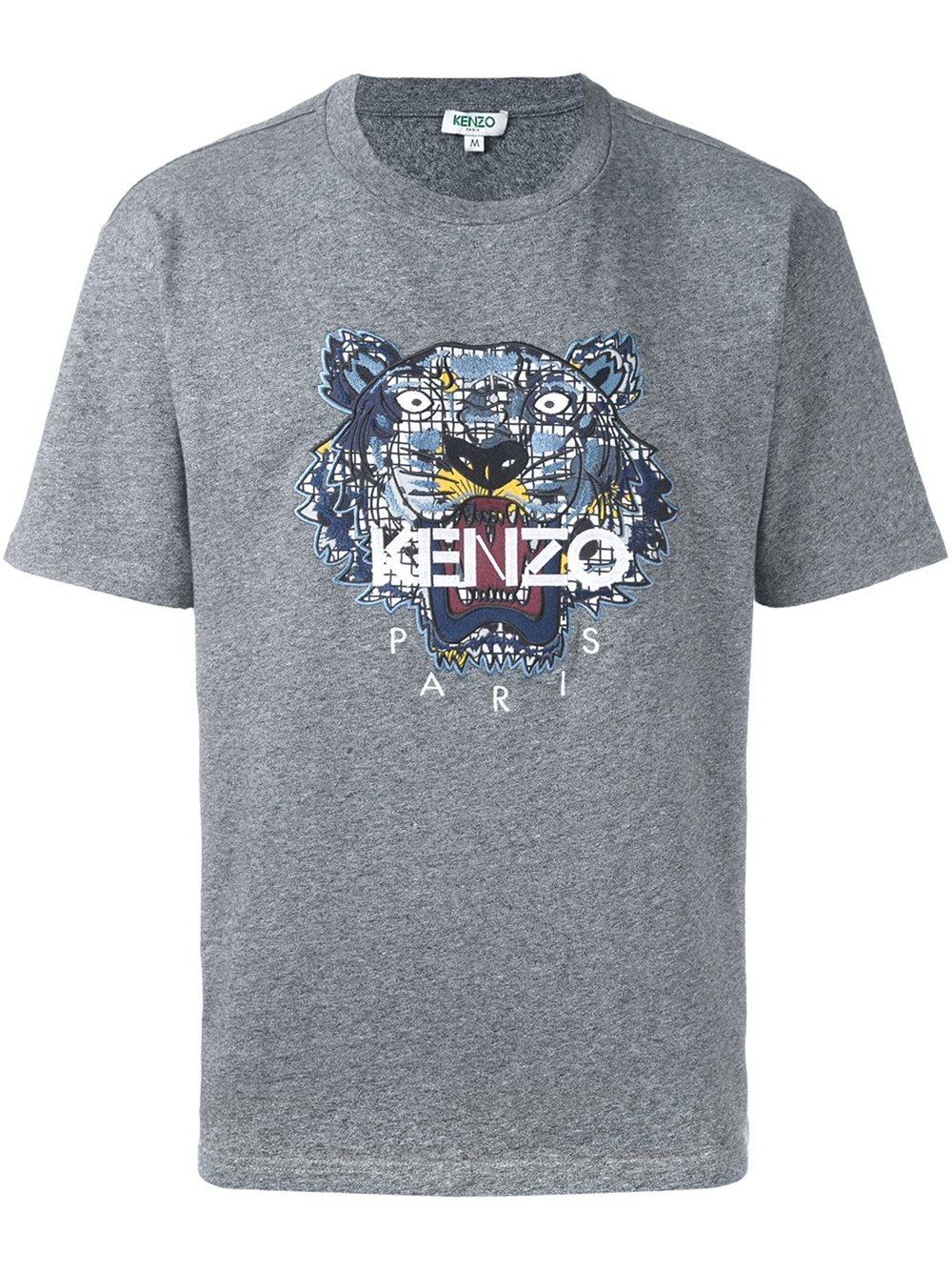 Kenzo T-shirt Paris léopard en coton ZI67EVTe
