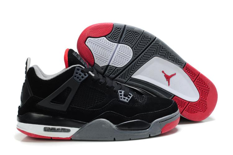 new concept 3a289 3d9bf Air Jordan 4 Homme Femme Jordan Le Parfait Chaussure Air Jordan 4 Retro Pas  Cher Rouge ...