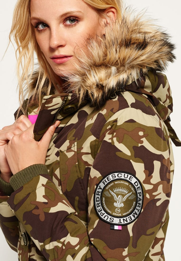 D'hiver D'hiver Veste Camo Everest Femme doudounes Superdry Manteaux 7azqxOwIZ