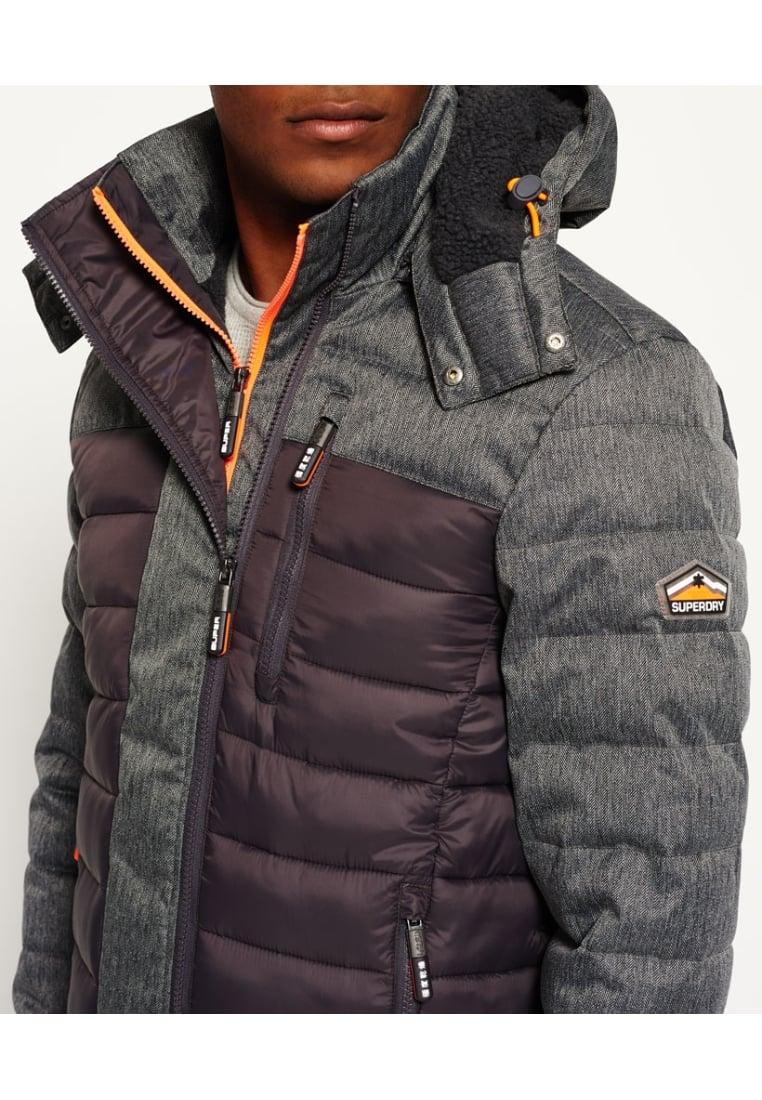 D'hiver Fuji Vestes Veste Homme solde Grey Superdry OTpwxI1
