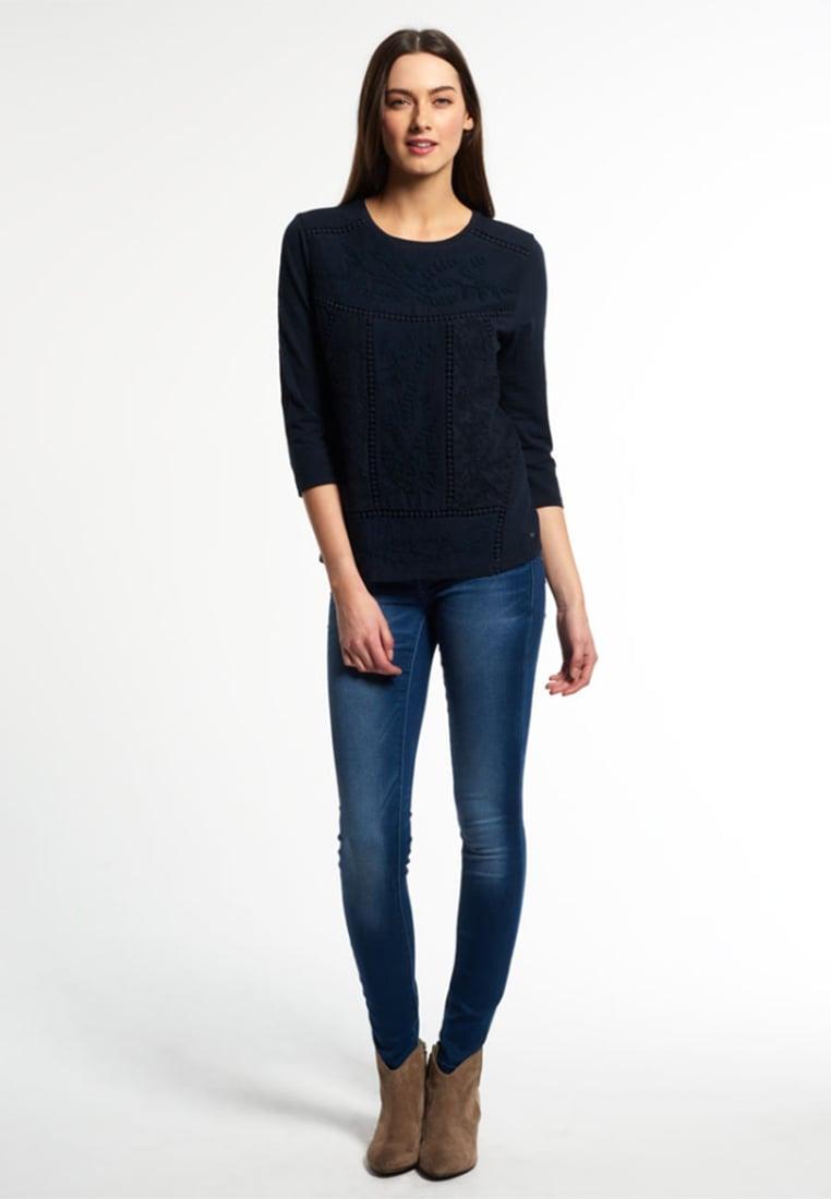 Femme Tops   T-shirts Superdry FOLK PATCH - T-shirt à manches longues ... b7a4359164fd