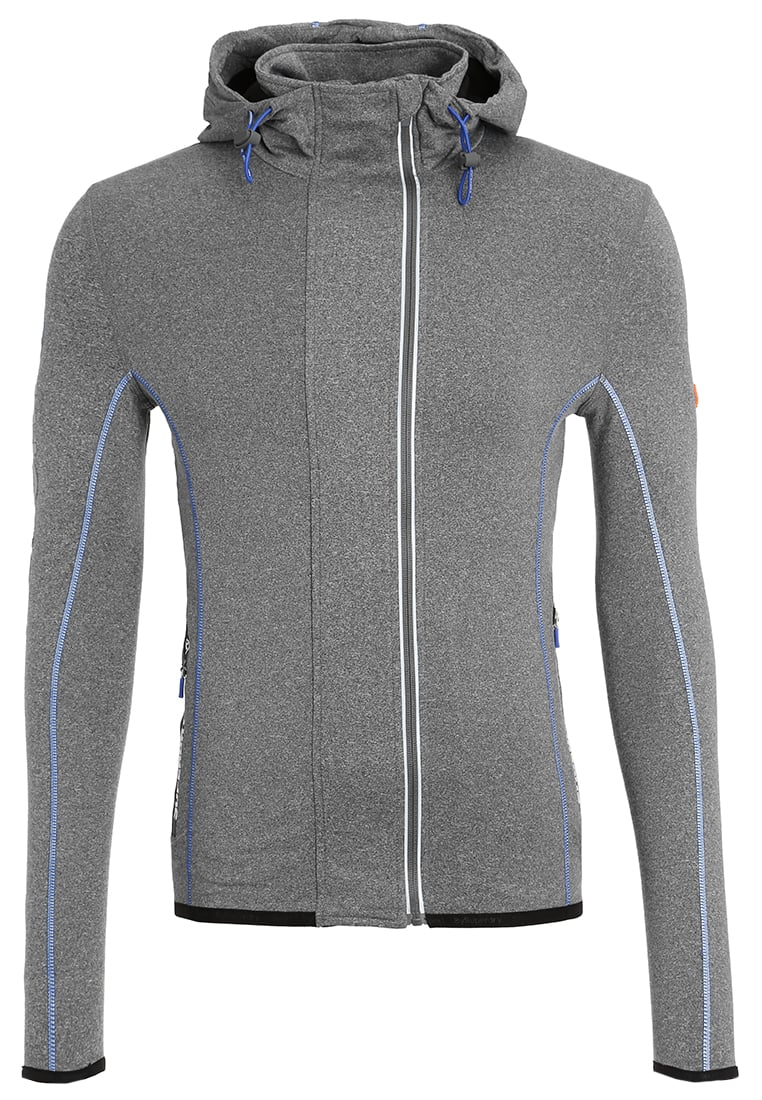 Zippé Pullsamp; Superdry Grit Runner Homme Sweatshirts Sweat Grey Nnm0wvy8O