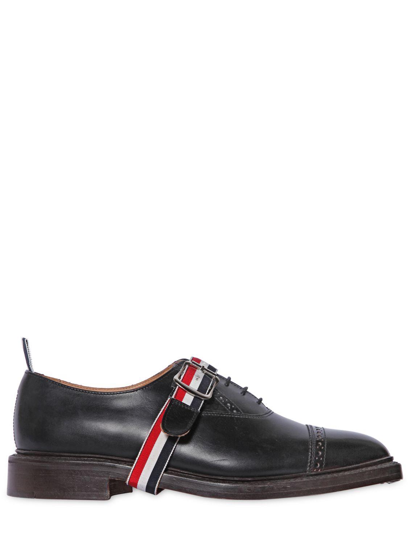 En Brossé Oxford Thom Ceinture Noir Browne Avec Cuir Chaussures qtpUx14fw