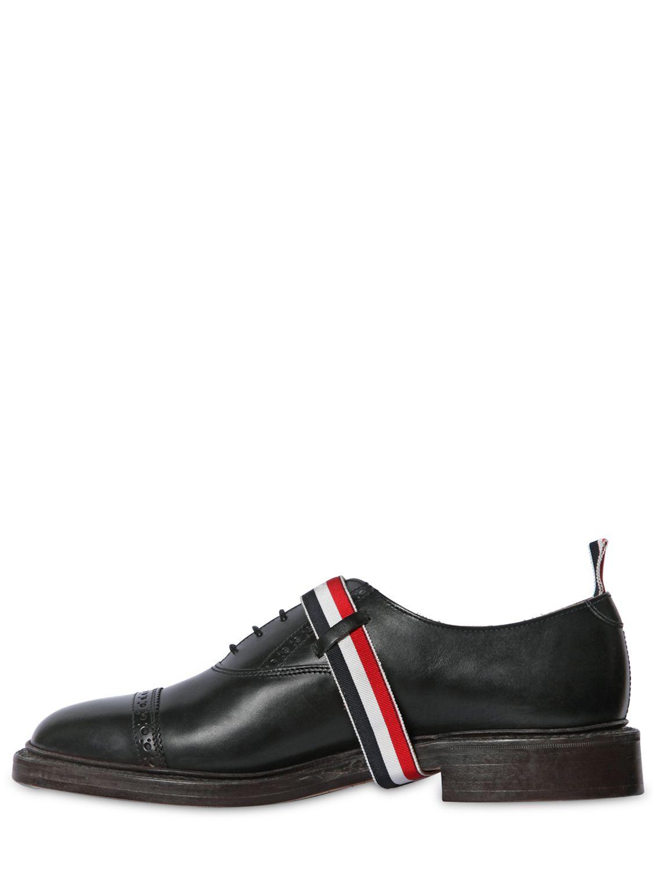 Chaussures En Cuir Noir Oxford Thom Browne lq7E5